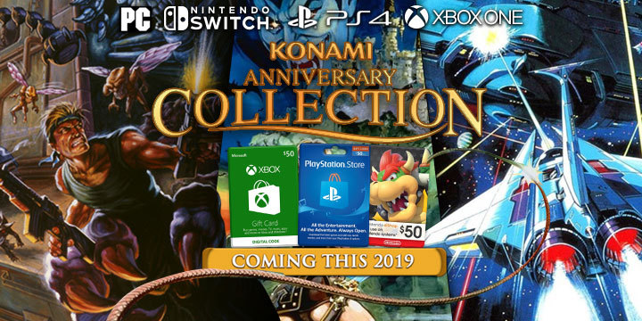 Konami 50th Anniversary Collections, Konami Anniversary Collections, Castlevania, Arcade Classics, Contra, PS4, Switch, Xbox One, PC, PlayStation 4, Nintendo Switch, 2019, digital, Konami, release date, price