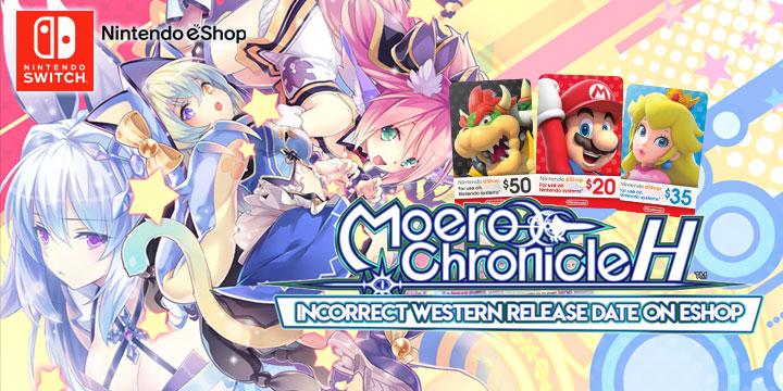 Moero Chronicle H, Moero Chronicle Hyper, Compile Heart, Nintendo Switch, Switch, release date, gameplay, trailer, price, digital, West, North America, Europe, new, update, incorrect release date