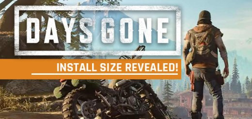 Days Gone, PS4, PlayStation 4, US, Europe, Asia, Japan, update, install size