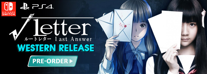 Root Letter: Last Answer, PQube, Western localization, localization, PlayStation 4, Nintendo Switch, US, √Letter Last Answer
