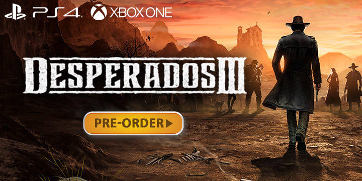 Desperados III, THQ Nordic, gameplay, trailer, Europe, North America, US, price, pre-order, PS4, XONE, PlayStation 4, Xbox One