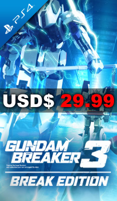 GUNDAM BREAKER 3 BREAK EDITION (ENGLISH SUBS) Bandai Namco Games