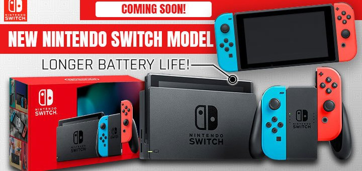 Nintendo, New Nintendo Switch, New Nintendo Switch Model, Nintendo Switch, Battery Life, Longer battery life, Battery, new model, New Joy-Con Controllers, Joy-con, Joy-con controllers, Japan, US, North America, release date, features