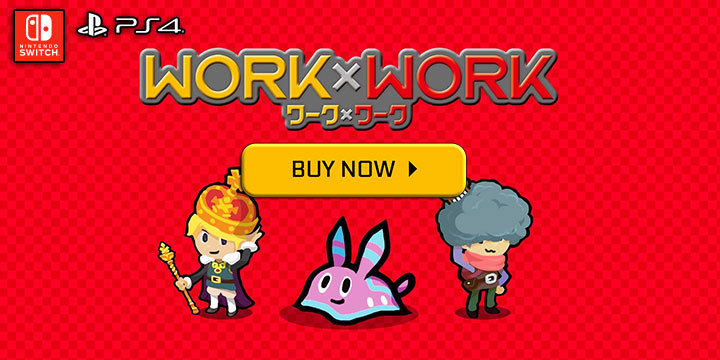 Heroland, PS4, Switch, PlayStation 4, Nintendo Switch, US, XSEED Games, Pre-order, Work x Work, Work Work, Western Release