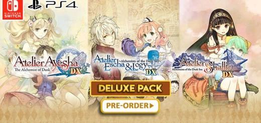Atelier Dusk Trilogy Deluxe Pack, Atelier, PS4, Switch, PlayStation 4, Nintendo Switch, US, North America, Japan, Europe, Asia, release date, gameplay, features, price, pre-order, Limited Edition, Atelier Ayesha: The Alchemist of Dusk, Atelier Escha & Logy: Alchemists of the Dusk Sky, Atelier Shallie: Alchemists of the Dusk Sea, Koei Tecmo Games, Gust