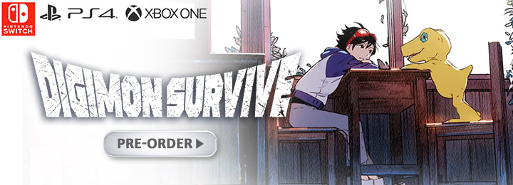 digimon survive, digimon game, nintendo switch, switch,ps4, playstation 4, xone, xbox one, north america, us, pre-order, gameplay, features, price, witchcraft, bandai namco entertainment