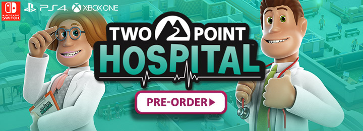 two point hospital, ps4, playstation 4, xone, xbox one, switch, nintendo switch, europe, north america, us, eu, release date, gameplay, features, price, pre-order, sega, two point studios