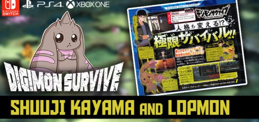 Digimon Survive,PS4, Playstation 4, XONE, Xbox One , switch, nintendo switch, north america release date, gameplay, camera function, shuuji kayama, lopmon