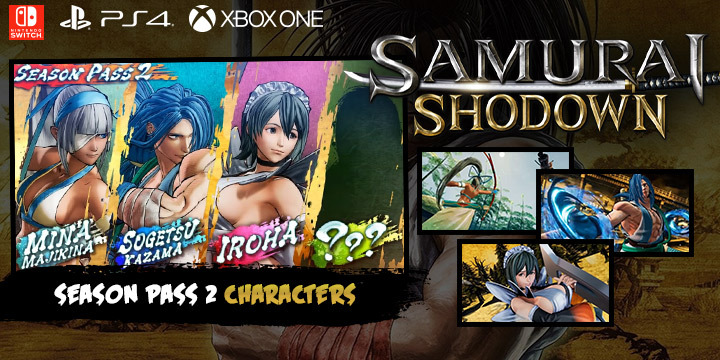 Samurai Spirits, Samurai Shodown, SNK, PS4, PlayStation 4, Japan, US, North America, Nintendo Switch, Switch, Xbox One, XONE, DLC, additional character, Season Pass 2, new trailer, character trailer, news, update, gameplay, features, pre-order