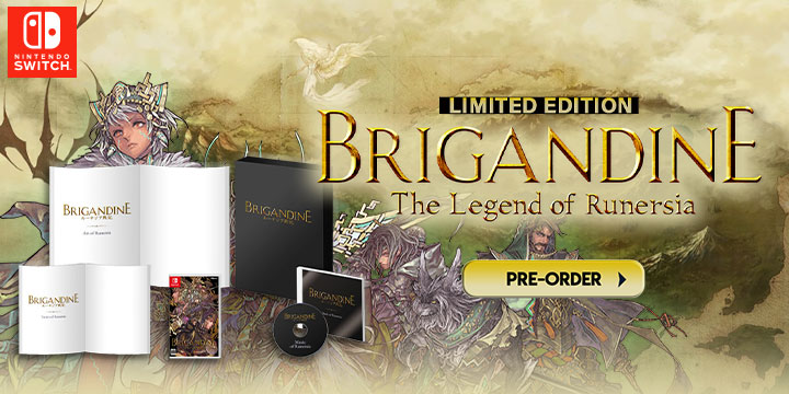 Brigandine: The Legend of Runersia,Limited Edition, Standard Edition, switch, nintendo switch, Happinet Games, Japan, ,release date, features,price,pre-order now,