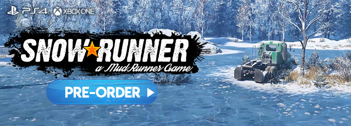 SnowRunner, MudRunner 2, Focus Home Interactive, North America, US, PS4, playstation 4, xone, xbox one, Europe, release date, gameplay, features, price, pre-order now, trailer, saber intercative