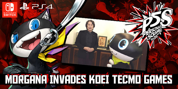 Persona 5 Scramble: The Phantom Strikers, PS4, Switch, PlayStation 4, Nintendo Switch, release date, features, price, pre-order, Japan, Atlus, P5S, news, Gameplay, Morgana invades Koei Tecmo, Morgana infiltrates Koei Tecmo, Morgana visits Koei Tecmo office, Morgana meets Kou Shibusawa, ペルソナ5スクランブル ザ・ファントムストライカーズ