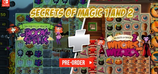 Secrets of Magic 1 and 2, Secrets of Magic The Book of Spells, Secrets of Magic 2 Witches and Wizards, Nintendo Switch, Switch, Europe, release date, features, price, pre-order now, trailer, Just For Games, 2 Games in 1 Cartridge, physical edition