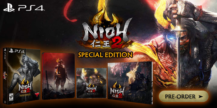 Nioh 2, Nioh, Special Edition, Nioh 2 [Special Edition], PlayStation 4, PS4, US, Pre-order, Koei Tecmo Games, Koei Tecmo, gameplay, features, release date, price, trailer, screenshots, inclusions