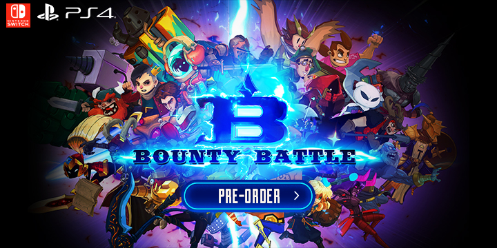 Bounty Battle, Europe, North America, Switch, Nintendo Switch, PS4, Playstation 4, physical, Merge Games, Dark Screen Games, trailer, screenshot, features, pre-order now, release date, price