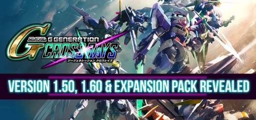 Gundam, SD Gundam G Generation Cross Rays, Bandai Namco, PS4, Switch, Nintendo Switch, PlayStation 4, Asia, Japan, updates, PC, updates, DLC, Version 1.50, 1.60, Expansion Pack