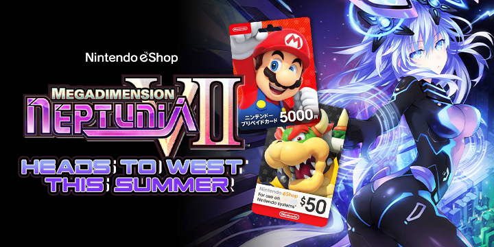 Megadimension Neptunia VII, Japan, Switch, Nintendo Switch, Nintendo eShop, eShop Cards, Nintendo eshop Cards, digital, North America, Europe, news, update, heads to west