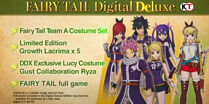 Fairy Tail, PS4, Switch, PlayStation 4, Nintendo Switch, release date, features, price, pre-order, US, North America, news, update, new trailer, Europe, Japan, Digital Deluxe Edition, Digital