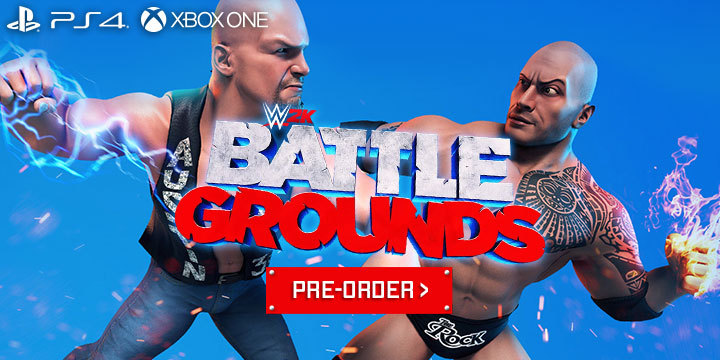 WWE, World Wrestling Entertainment, WWE 2K Battlegrounds, 2K Games, PlayStation 4, Xbox One, PS4, XONE, US, gameplay, features, release date, price, trailer, screenshots