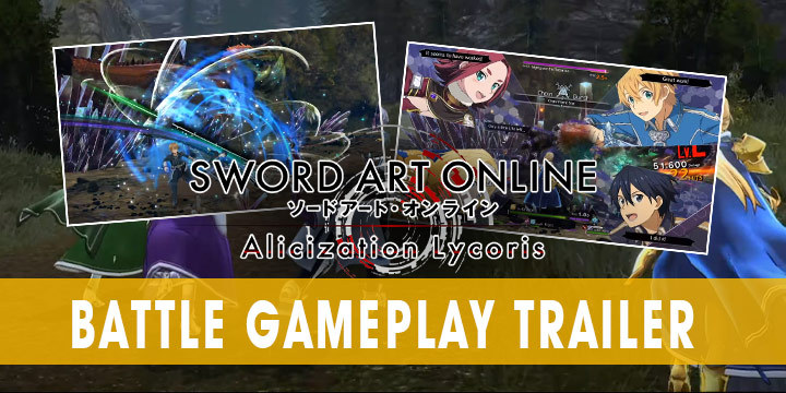 Sword Art Online: Alicization Lycoris, SAO: Alicization Lycoris, Bandai Namco, japan, release date, gameplay, us, north america, features, ps4, playstation 4, xbox one, update