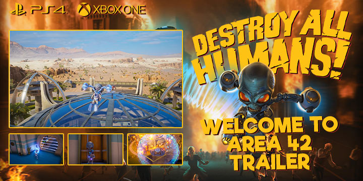 Destroy All Humans!, Black Forest Games, THQ Nordic, Europe, north america, us, release date, gameplay, features, price, pre-order now, trailer, destroy all humans! Remake, Area 42 Trailer, Welcome to Area 42 Trailer, update, Destroy All Humans