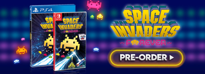 Space Invaders Forever, Space Invaders, ININ Games, Taito, Switch, Nintendo Switch, Europe, release date, screenshots, gameplay, price, pre-order now, PS4, PlayStation 4