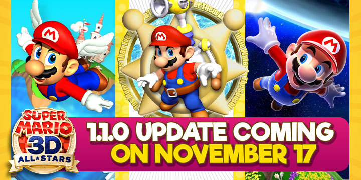 Super Mario 3D All-Stars, Mario, Super Mario, Nintendo Switch, Nintendo, Switch, US, gameplay, features, release date, price, trailer, screenshots, update, Japan, Europe, Asia, version 1.1.0