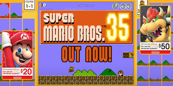 Super Mario Bros. 35, Digital Game, Mario Battle Royale Game, Switch, Nintendo Switch, release date, announcement trailer, Gameplay