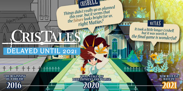 cris tales, dreams uncorporated, syck, modus games us, north america, europe, release date delayed, gameplay, features, price, pre-order now, ps4, playstation 4, xone, xbox one, switch, nintendo switch, delayed until 2021, new release date