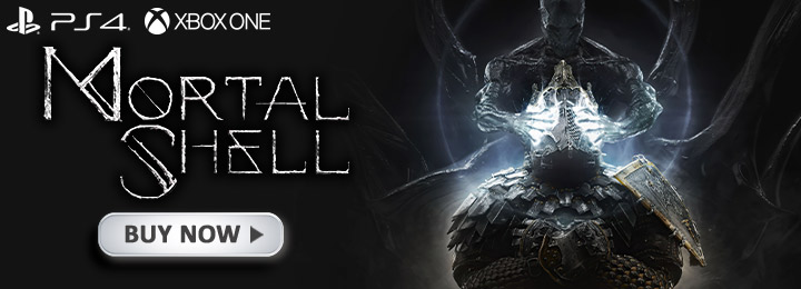 Mortal Shell, PlayStation 4, PS4, Xbox One, XONE, North America, Physical Edition, Europe, gameplay, features, release date, price, trailer, screenshots, Playstack, Cold Symmetry, Free Update, Rotten Autumn, Rotten Autumn Update