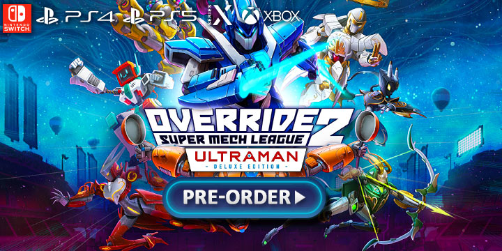 Override 2: Super Mech League [Ultraman Deluxe Edition], Override 2: Super Mech League Deluxe Edition, PS4, Nintendo Switch, PS5, PlayStation 5, Switch, XONE, Xbox One, Xbox Series X, US, North America, Europe, release date, price, pre-order, trailer, features, Override 2 Ultraman Deluxe Edition