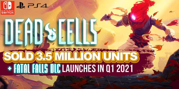 Dead Cells, PS4, Switch, PlayStation 4, Nintendo Switch, US, Europe, gameplay, features, release date, price, trailer, screenshots, update, DLC, sales, Fatal Falls