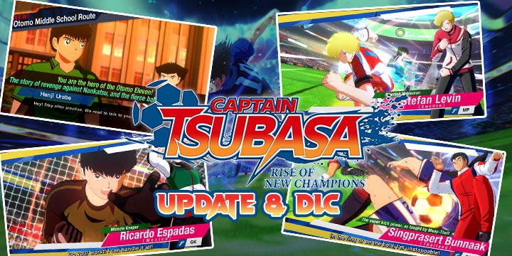 Captain Tsubasa: Rise of New Champions, PS4, PlayStation 4, Bandai Namco Entertainment, Nintendo Switch, North America, US, release date, features, price, buy now, trailer, Captain Tsubasa game 2020, update, version 1.10 update, DLC, free update. DLC character