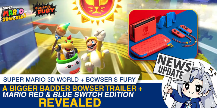 Super Mario 3D World, Bowser's Fury, Super Mario 3D World + Bowser's Fury, Nintendo Switch, Switch, Japan, US, Europe, gameplay, features, release date, price, trailer, screenshots, Nintendo, Mario, Super Mario, update, Mario Red & Blue Edition