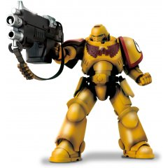 WARHAMMER 40,000 ACTION FIGURE: IMPERIAL FISTS WITH AUTO BOLT RIFLE AND AUXILIARY GRENADE LAUNCHER Tamashii (Bandai Toys)
