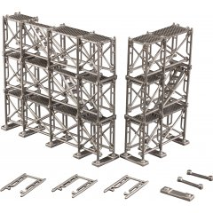 1/64 - 1/100 SCALE PLASTIC MODEL KIT: ASHIBA (SCAFFOLD) Plum