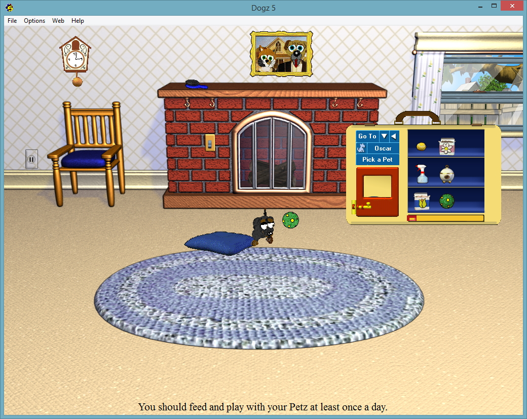 Playing Ball With A Virtual Pet In The Living Room
