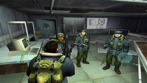 Lining up with your squad. Playing the game on a modern PC in 1080p with antialiasing.