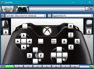 Player 1's controls.