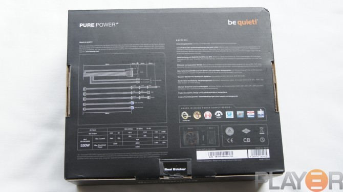 Be Quiet Pure Power L8 530W Box Back