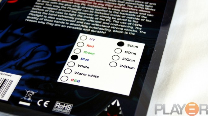 Phobya 30cm Blue LED-flexlight Packaging Type Selection