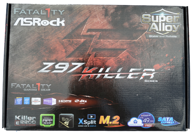 ASRock Fatal1ty Z97 Killer Packaging Front