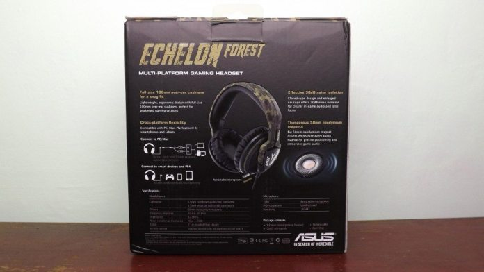 c3c5c4ce299 The back of the box has a picture of the headset flanked to the sides by  some more feature information and at the bottom we have some technical  specs for ...