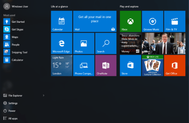 This is what the start menu currently looks like. If you're not happy with it, then there are 3rd party applications (such as Classic Shell) that can restore a start menu similar to the one found in XP/Windows 7