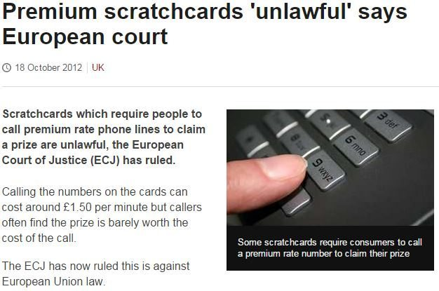 PRS Scratchcards BBC