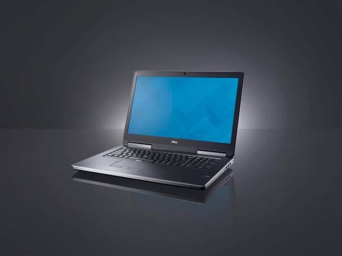 Beauty shot of a Dell Precision 7710 Non-Touch (codename Miramar) mobile workstation.