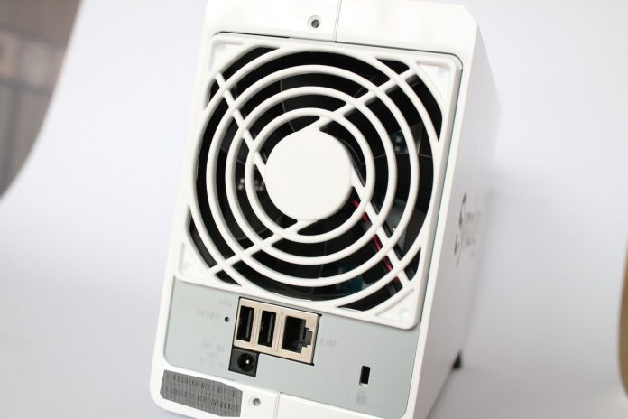 Image of rear of Synology NAS