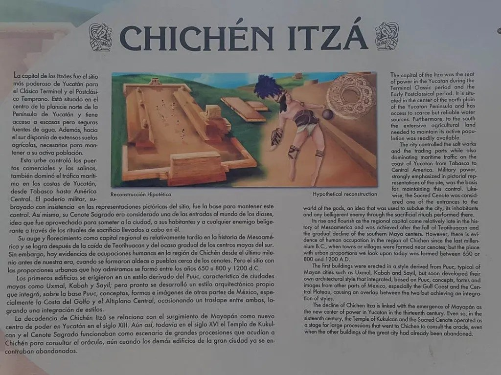 Chichen Itza descriptive plaque