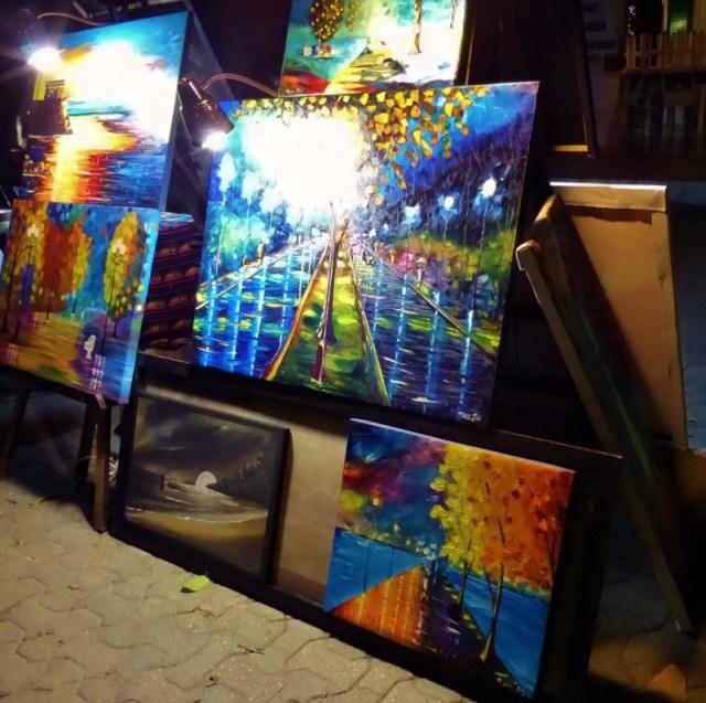 Marco Pat painting at Caminarte