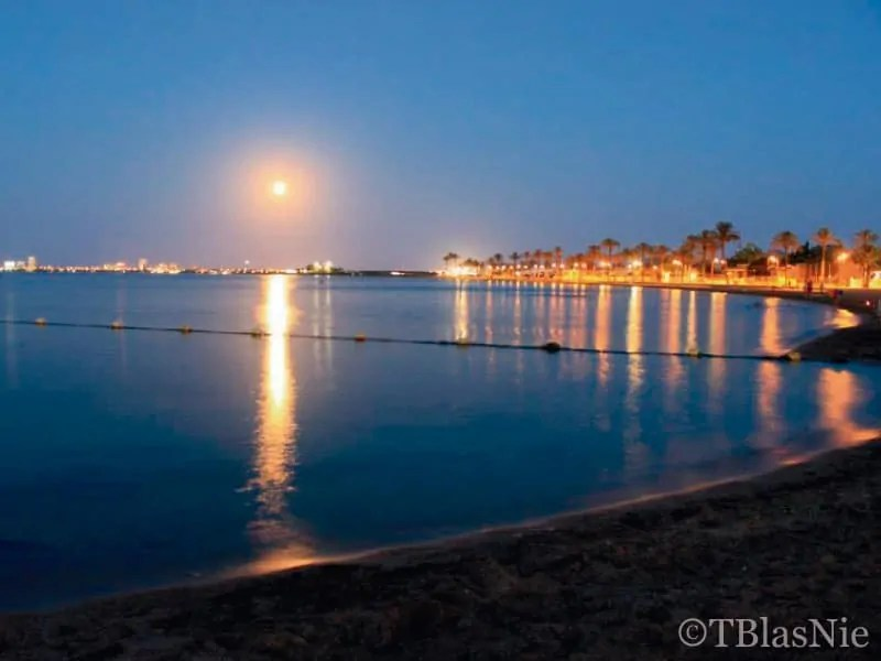 Reflection of lights in the Mar Menor